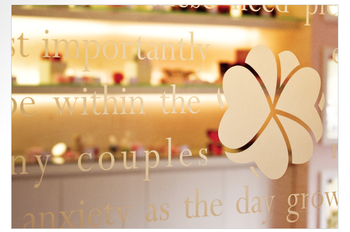 Perfect Match Wedding Planner Glass Door Sticker