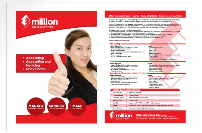 Million Business Software Flyer