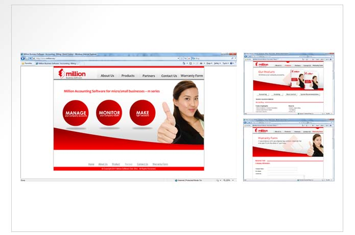 Million Business Software Website